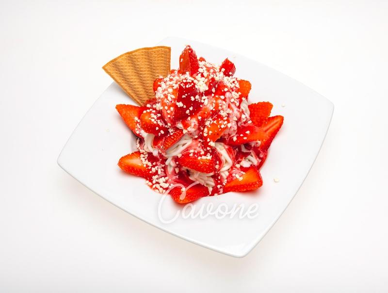 Spaghetti mit Erdbeeren